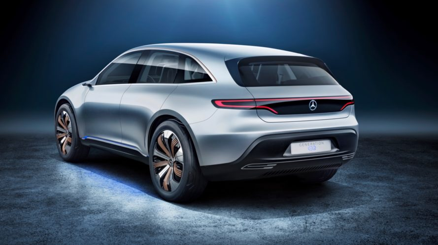 mercedes-benz, mercedes, mercedes generation eq concept, generation eq, generation eq concept, 2016 paris motor show, electric car, green car, electric motor, lithium-ion battery, electric vehicle