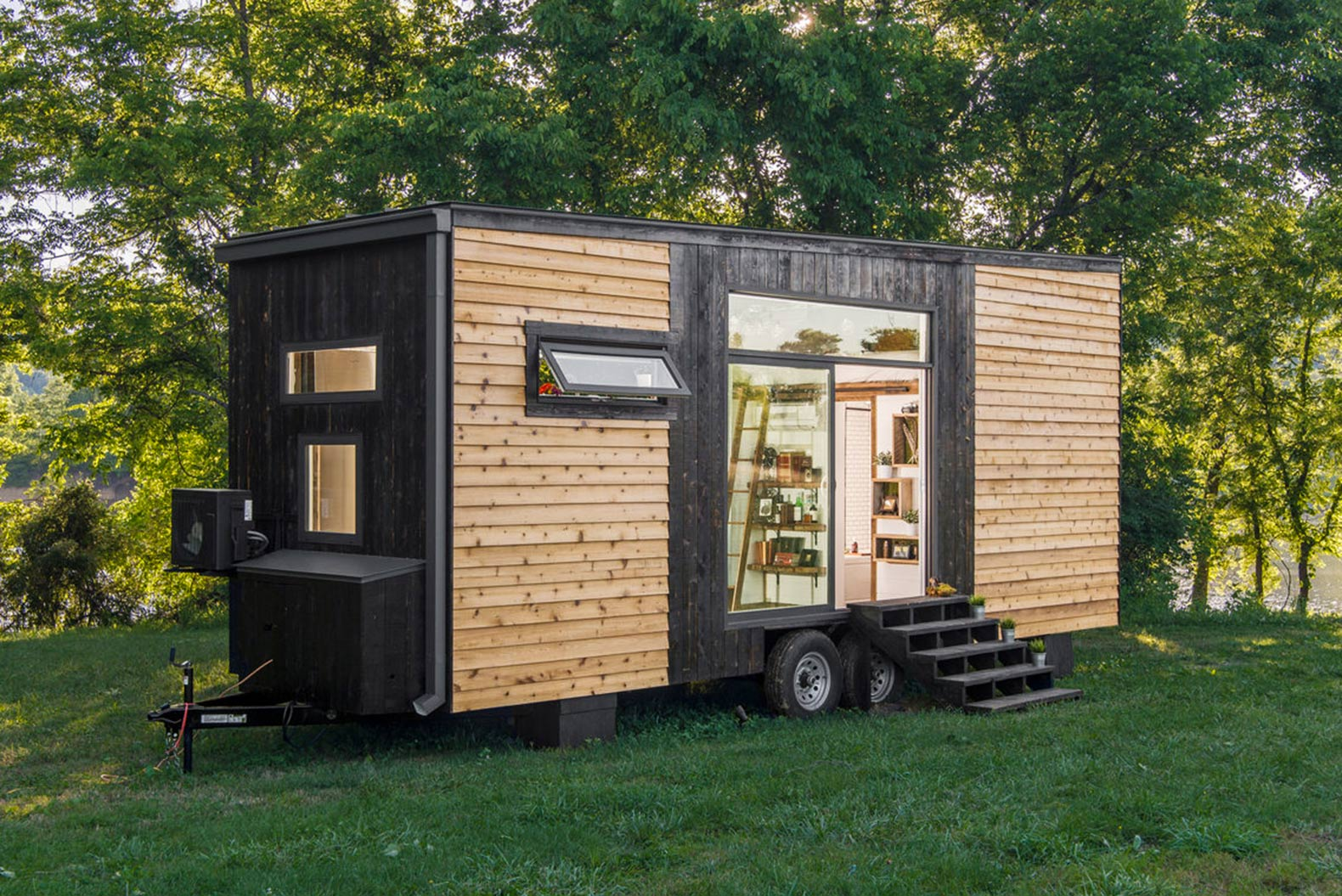 Incredible Tiny Home Clad In Burnt Wood Packs A Ton Of Luxury Into Just Interior Design Ideas Tzicisoteloinfo