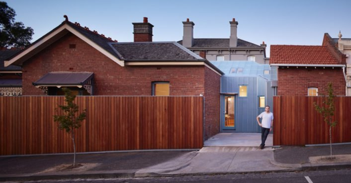 A translucent room fills this beautifully renovated brick house
