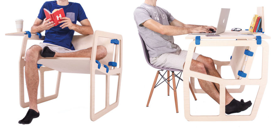 PlayWood, Stefano Guerrieri, modular furniture, furniture, DIY furniture, boards, connectors, chairs, chair, desks, desk, table, tables, shelves, shelf, bookcases, bookcase, eco-friendly furniture, sustainable furniture, recyclable materials