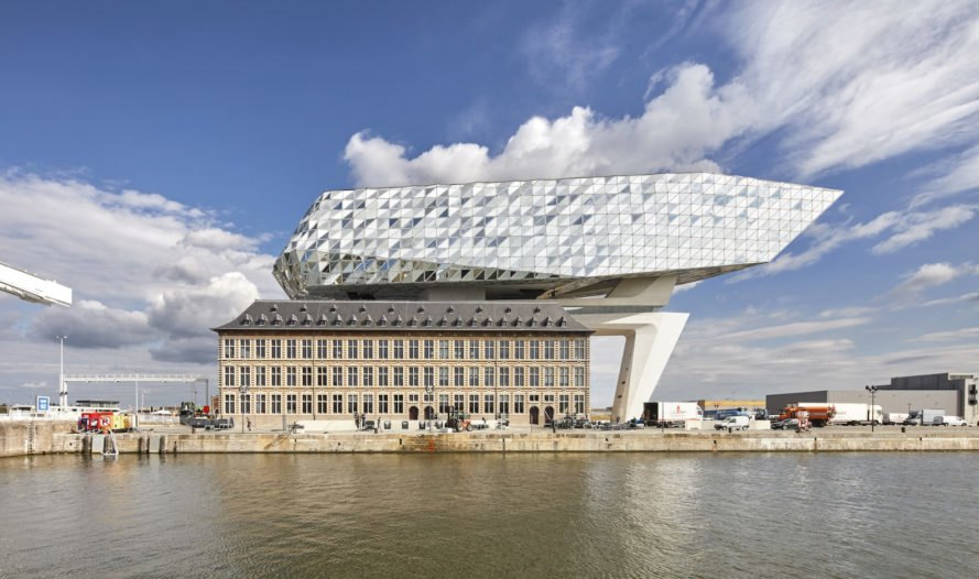 Port House in Antwerp by Zaha Hadid Architects, new Port House in Antwerp, modern addition to the Port House in Antwerp, BREEAM-rated buildings in Antwerp, Antwerp sustainable architecture, Antwerp modern architecture, Zaha Hadid Architects work in Antwerp
