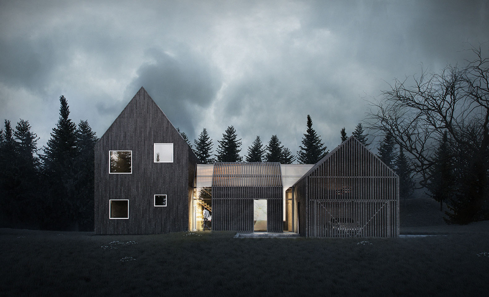 Sophisticated minimalist house in Denmark lets you enjoy the outdoors even  in the winter