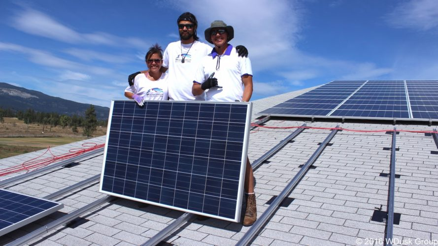 largest community-owned solar power installation in British Columbia, Lower Nicola Indian Band sustainable energy, Lower Nicola Indian Band solar energy, Lower Nicola Indian Band School Gym, Lower Nicola Indian Band and W Dusk Energy Group