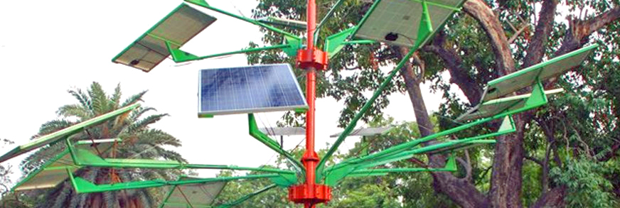 India's new Solar Power Tree can light 5 homes in just 4 sq ft of land