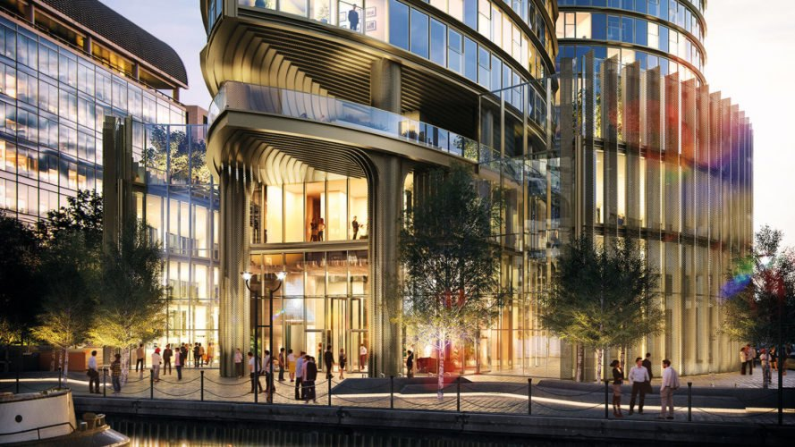 HoK Architects, Spire London, residential tower, London, Greenland Group, Argent Design, luxury tower , green architecture