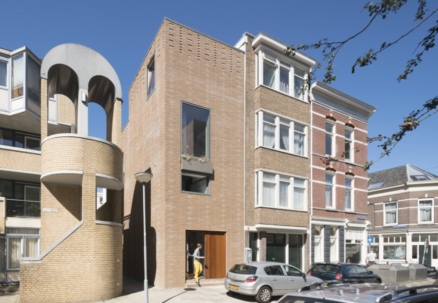 Architectuur Maken Home and Office and StoneCycling, StoneCycling brick facade by Architectuur Maken, recycled brick facade, recycled brick project, industrial waste bricks, StoneCycling WasteBasedBricks, WasteBasedBricks, waste-based house