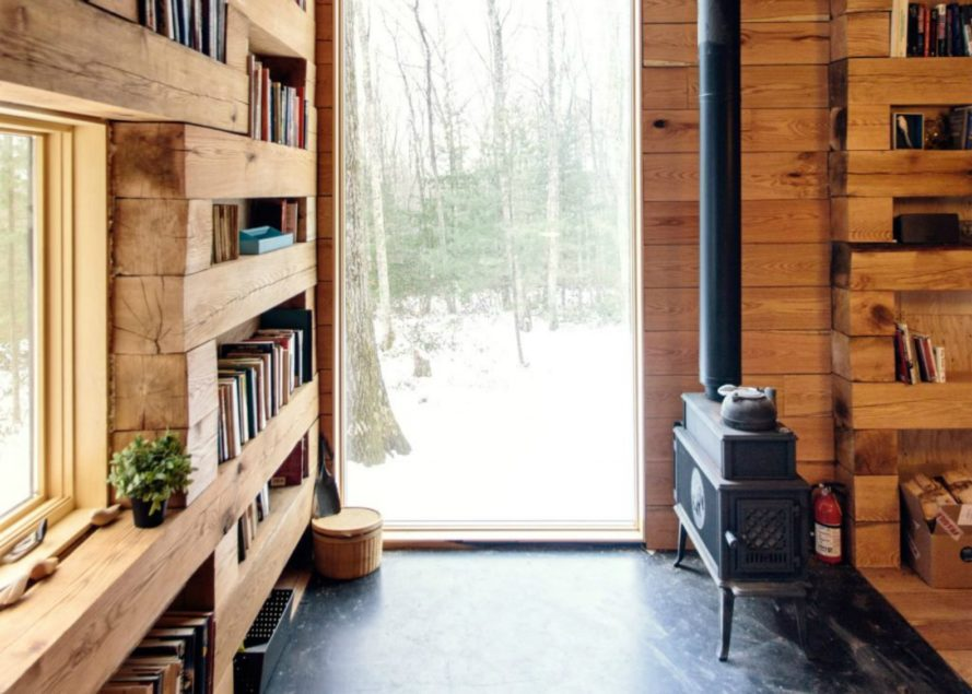 Studio Padron, Studio Padron Library Cabin, Hemmelig Rom, cabin design, readers cabin, she sheds, new york cabins, Hemmelig Rom library, repurposed building materials, wooden cabins, log cabin design, reading nooks, library design, update new york cabins