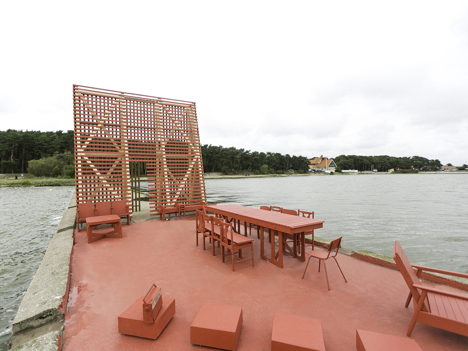A Living Room With Soviet Era Furniture Just Popped Up In Lithuanian Lagoon