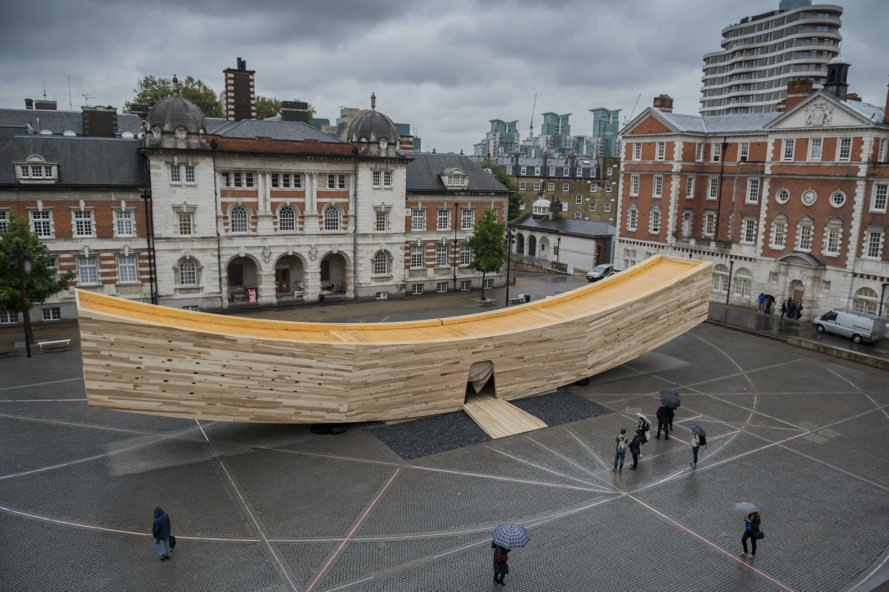 The Smile, The Smile by Alison Brooks Architects, Alison Brooks Architects, Arup, London Design Festival, 2016 London Design Festival, London, design, American Hardwood Export Council, hardwood, timber, cross-laminated timber, CLT, American tulipwood, tulipwood, tulipwood CLT, installation