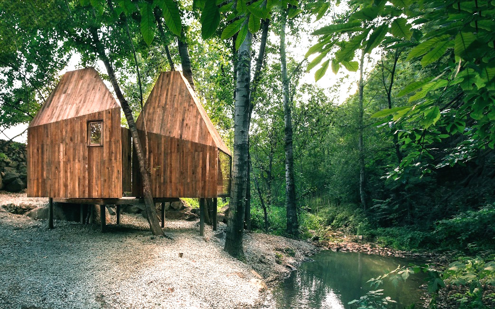 Romantic Treehouse huts are tucked away in Beijing's tranquil mountains