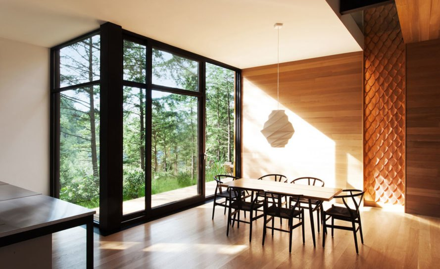 Jarnuszkiewicz house, Canada, timber cladding, YH2 Architecture, open-plan layout, Montreal, observation tower, belvedere, mezzanine, green architecture