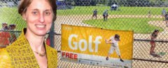 heather lubov, city parks foundation, baseball diamonds transformed into golf schools, golf school nyc, nyc golf, urban golf range, golf range nyc, adaptive reuse