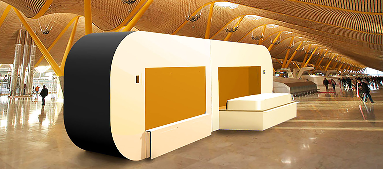 Comfy aDream pods let you take a nap during long airport layovers