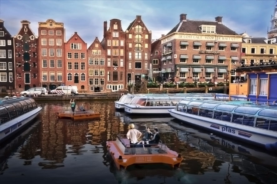 AMS Institute, MIT, roboats, robot boats, autonomous boats, research, transportation, amsterdam, canals