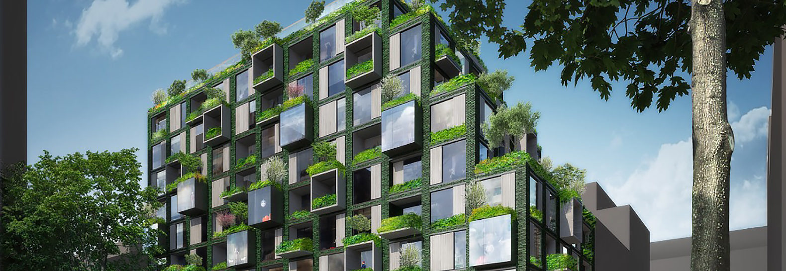 werkbundstadt ingenhoven architects unveil green residential building for berlin 39 s new 39 live. Black Bedroom Furniture Sets. Home Design Ideas