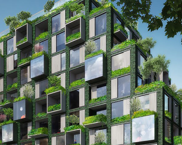 ingenhoven architects, WerkBundStadt, Berlin, Werkbund, Germany, city, apartments, apartment, residential, residential building, green building, sustainable building