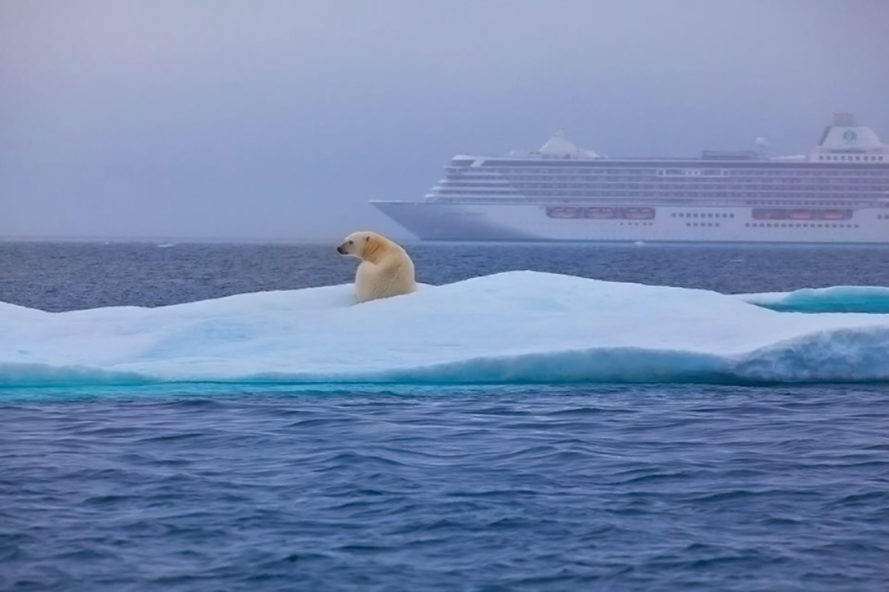northwest passage, crystal cruises, crystal serenity, cruise ship, arctic sea ice, arctic ice melt, tourism, climate change, melting ice