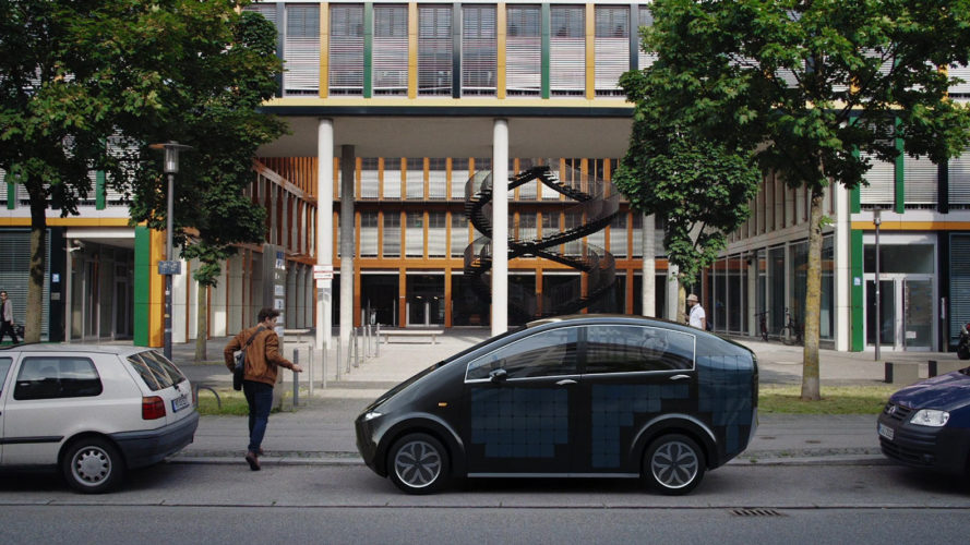 sono motors, electric vehicle, electric car, solar car, solar-powered car, solar panels, prototypes, crowdfunding, scion solar car, startups