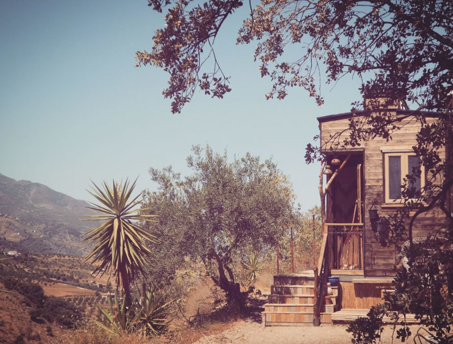 bohemian, boho, wooden house, tiny house, house on wheels, spain, off the grid, off-grid houses