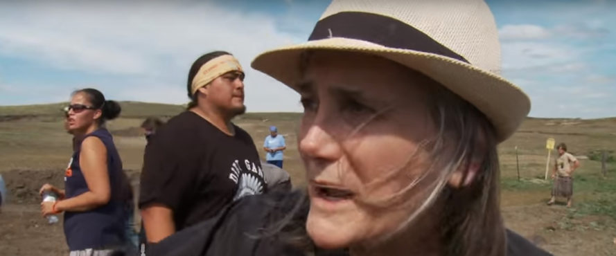 Amy Goodman, Democracy Now!, Dakota Access Pipeline, journalist, journalism, arrest, riot charges, riot, oil pipeline, oil, North Dakota, protest
