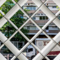 A Beautiful Perforated Facade Filters Natural Light Into