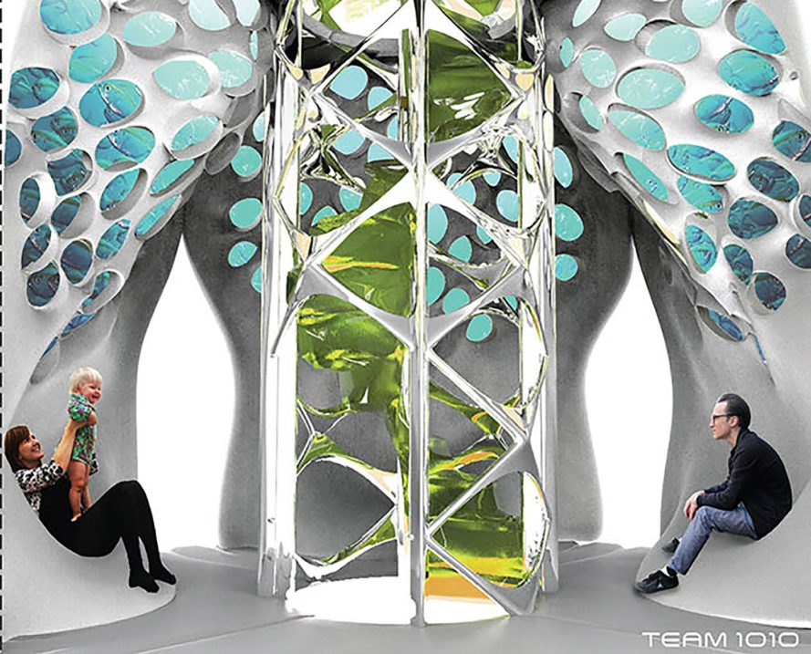 3d-printed homes, bioplastic homes, aquaponics future housing, houses that make their own building materials, aquaponics closed loop home, cradle-to-cradle home, Inhabitat Biodesign Competition, 3d-printed futuristic homes, aquaponics house, 3d-printed plastic house