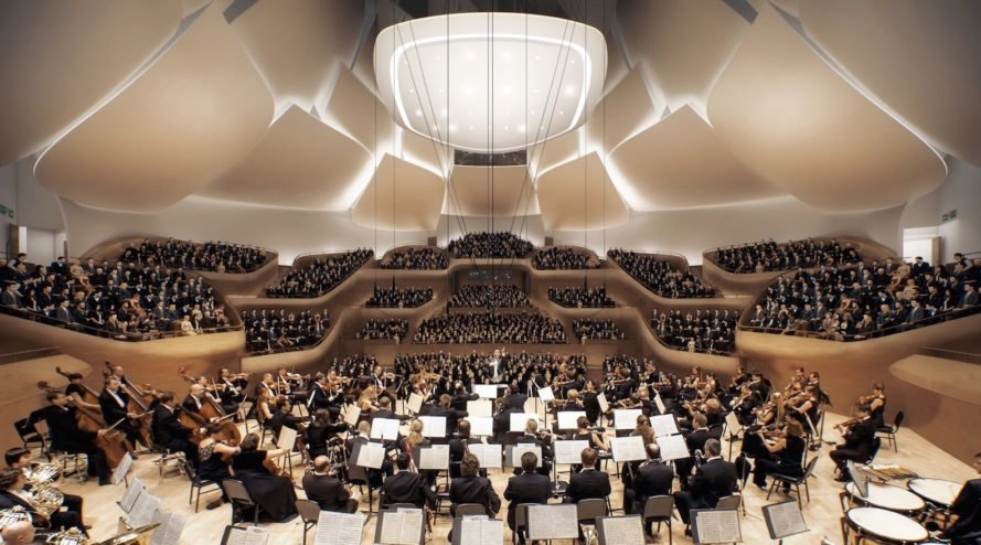 China Philharmonic Hall by MAD Architects, China Philharmonic Hall in Beijing, concert hall in Beijing, Yasuhisa Toyota concert hall design, Ma Yansong concert hall architecture