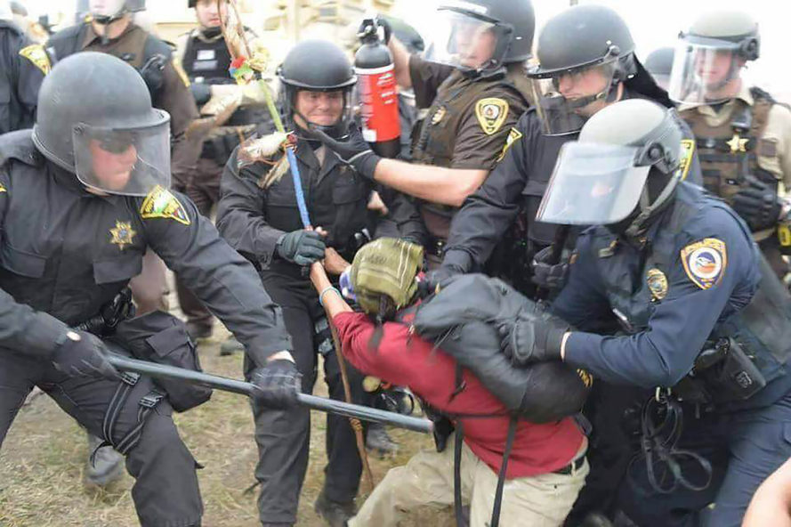 Dakota Access Pipeline, DAPL, North Dakota, Energy Transfer Partners, protest, protesters, arrest, law enforcement, Highway 1806, Cannon Ball