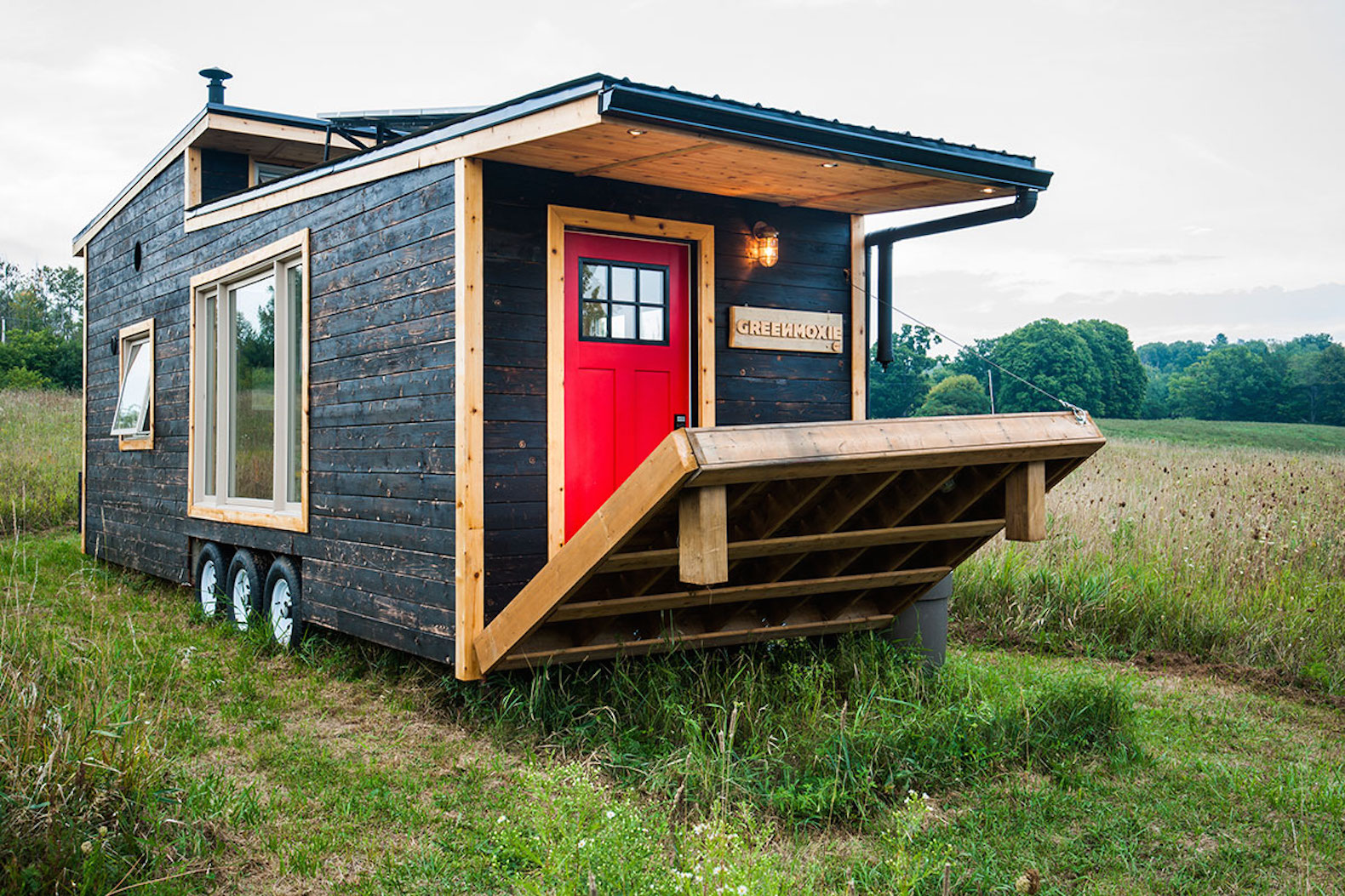 Greenmoxie Tiny House Lets You Live Mortgage Free And Off Grid In A Luxurious 340 Sq Ft On Wheels