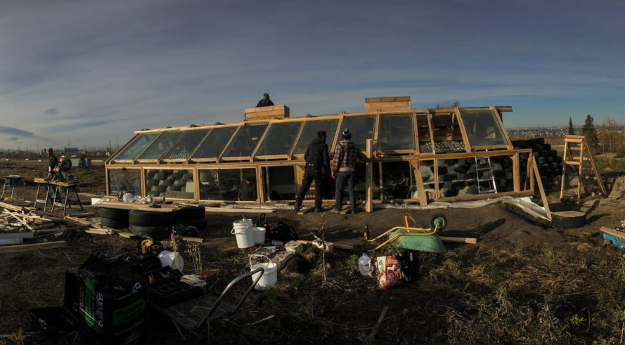 earthship, grow calgary, north america's first urban earthship, urban farm, earthship greenhouse, year-round greenhouse