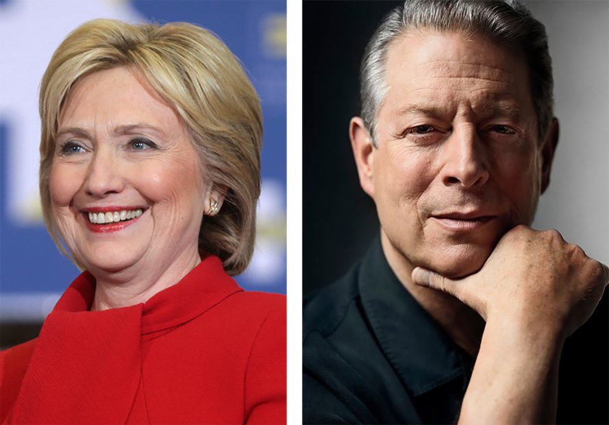 Hillary Clinton, Al Gore, election, Election 2016, Donald Trump, climate change denier, climate change, global warming, Hurricane Matthew, Florida, North Carolina, hurricane, weather, campaign, campaign trail, campaigning