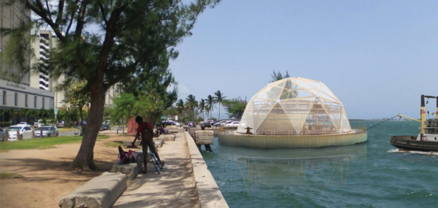 Hope waters dome, floating farm dome, Dinesh Ram, farm dome, floating dome, floating geodesic dome
