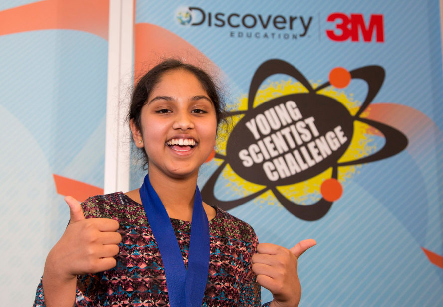 Maanasa Mendu, Discovery Education, 3M, Discovery Education 3M Young Scientist Challenge, America's Top Young Scientist, challenge, competition, science, scientist, young scientist, kid scientist, kids, energy harvesting, wind energy, solar energy, vibration energy, renewable energy