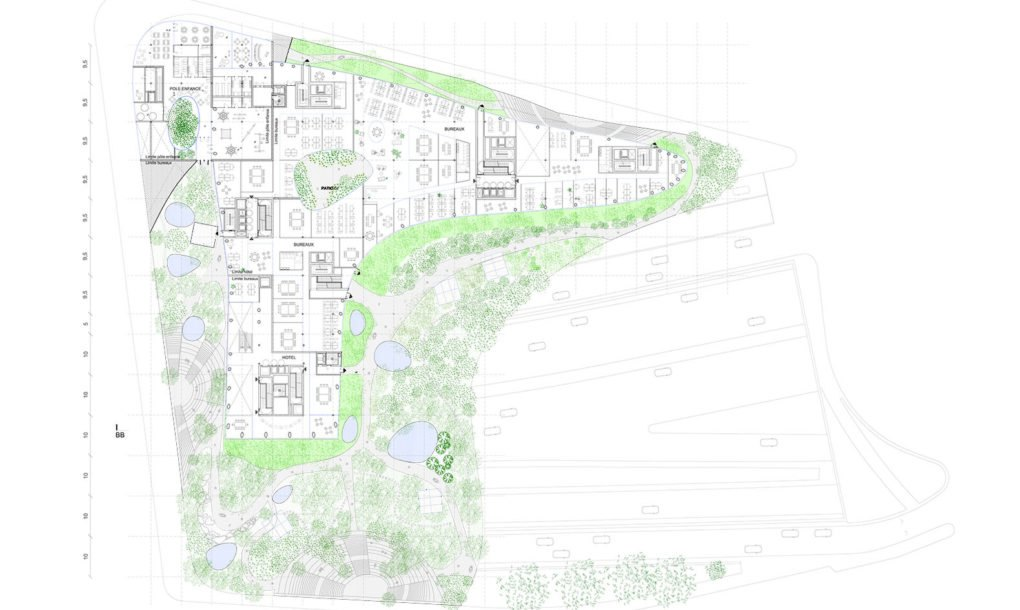This Reverse Pyramid Is A Green Urban Community In The