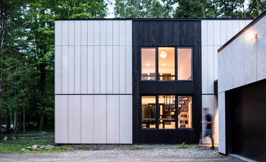 AlexAllen Studio, John Bloodgood, New Paltz House, green renovation, New York, Shou-Sugi Ban, wood siding, low-maintenance, charred wood, burnt wood, energy efficiency