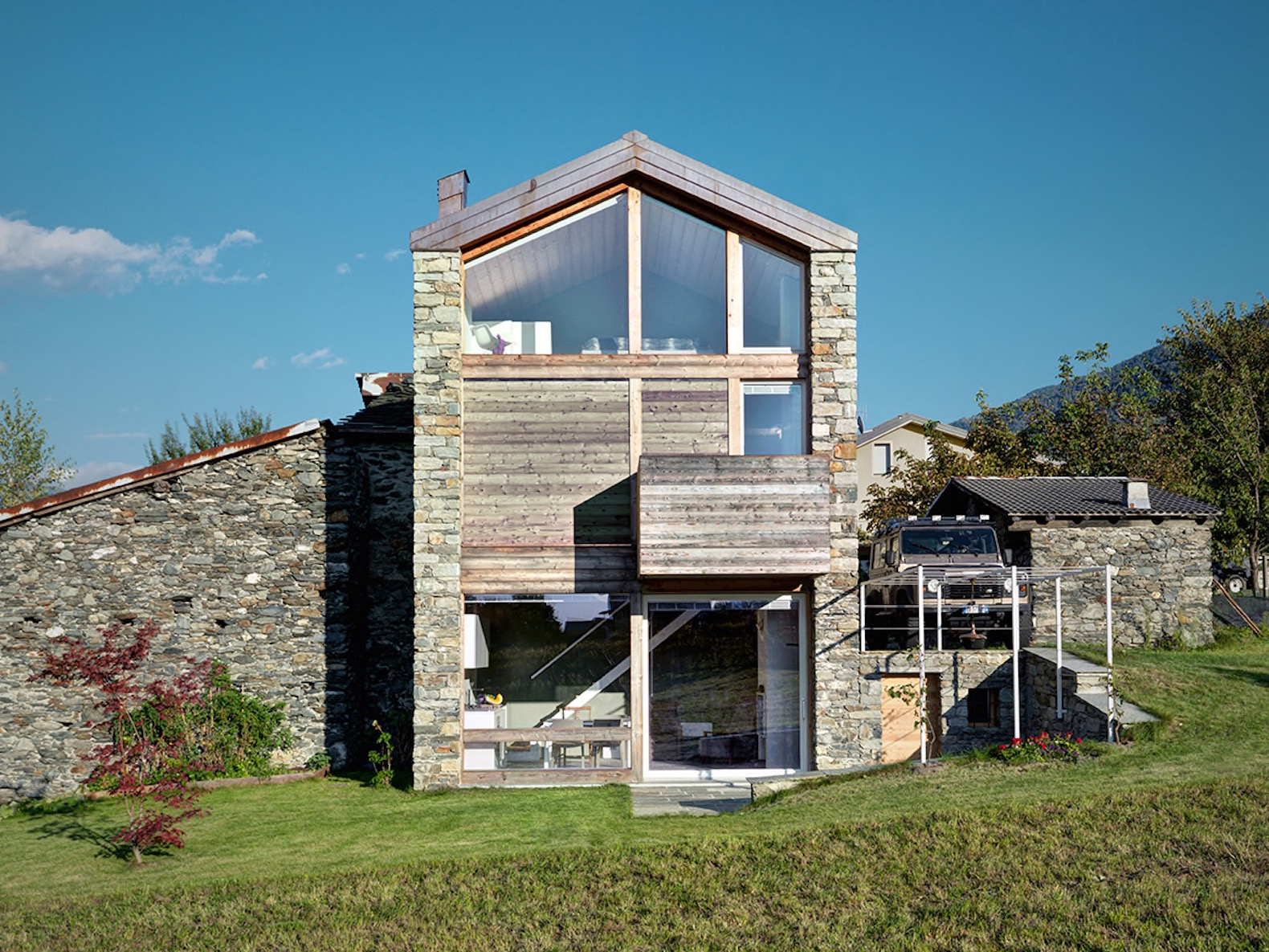 Modern Alpine Home Is Built On The Ruins Of An Old Rustic Structure
