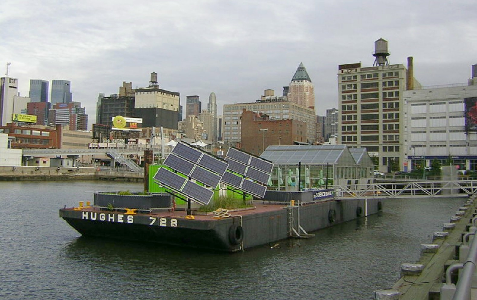 Science Barge floating farm gets decked out in new solar electric system