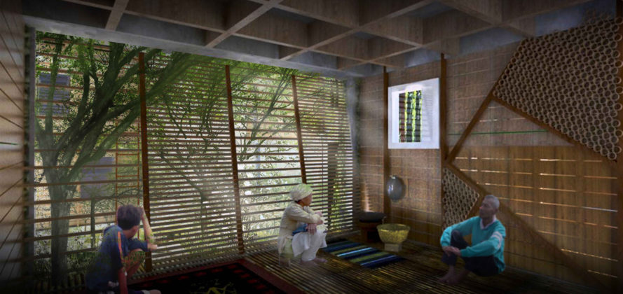 self-healing house, Edwin Indera Waskita, biodesign competition, biodesign, ecology, sustainable housing, living house, living walls, ecological skin