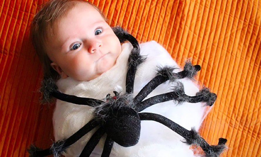 spider halloween costume, how to upcycle halloween decorations, how to reuse halloween decorations