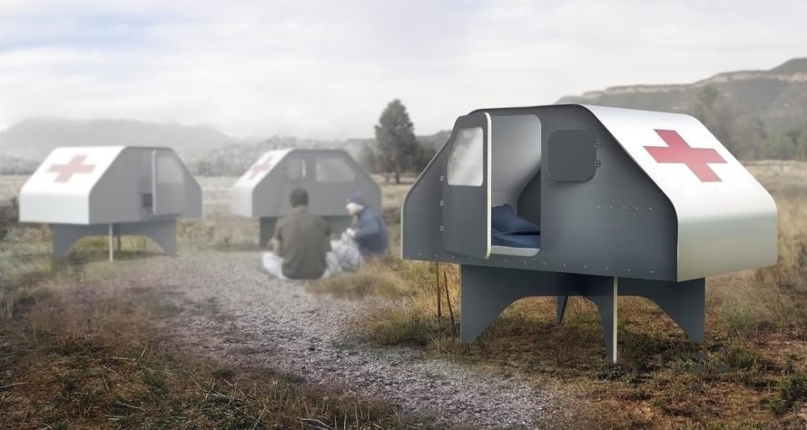 Duffy Shelter, Duffy London, mobile shelter, emergency shelter, flat-pack, prefab trailer, green design, sustainably harvested wood, handmade, natural disasters, emergency housing, prefab