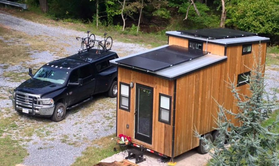 The Tiny Solar House, solar power, solar panels, tiny house, house on wheels, off-the-grid home, green architecture, off-the-grid living, clean energy