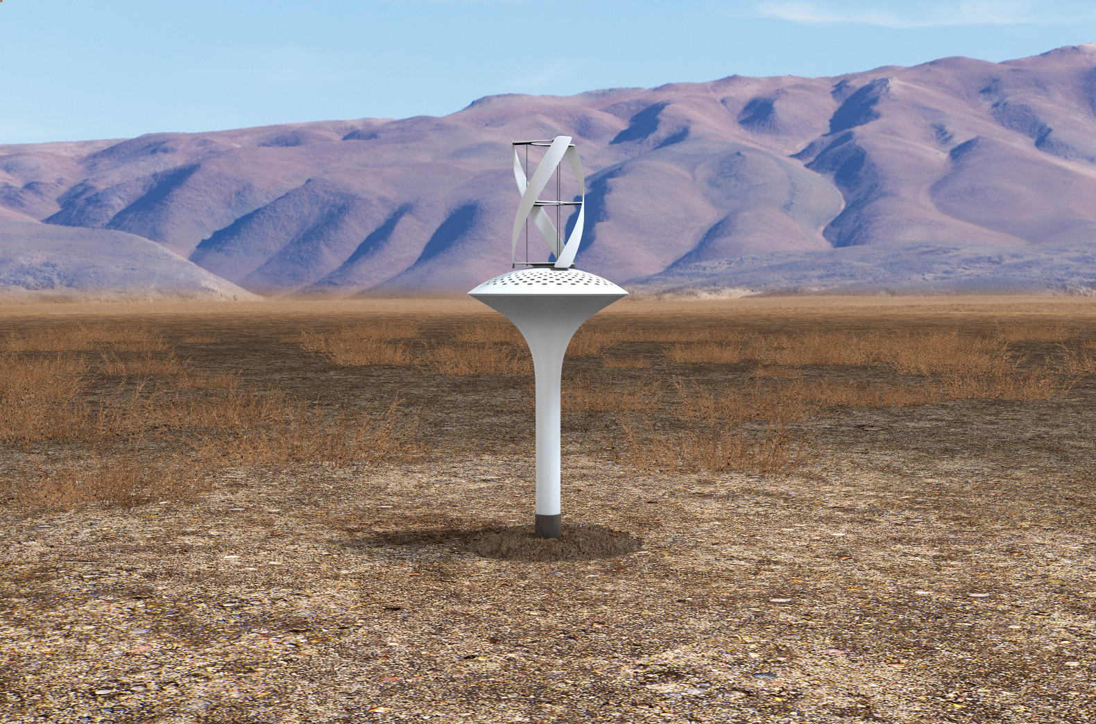 Wind-powered Water Seer pulls 11 gallons of clean drinking water from thin air