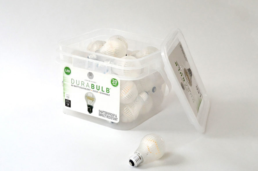 Unbreakable Durabulb light bulb can be shipping in the mail