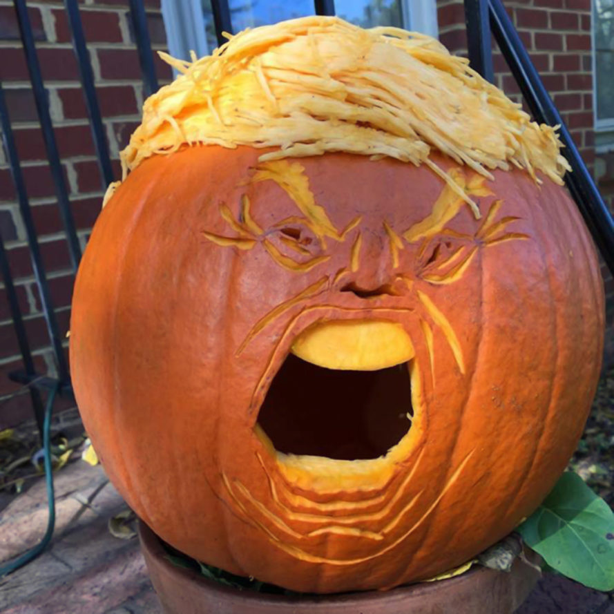 20 trumpkins that are making halloween great again | inhabitat