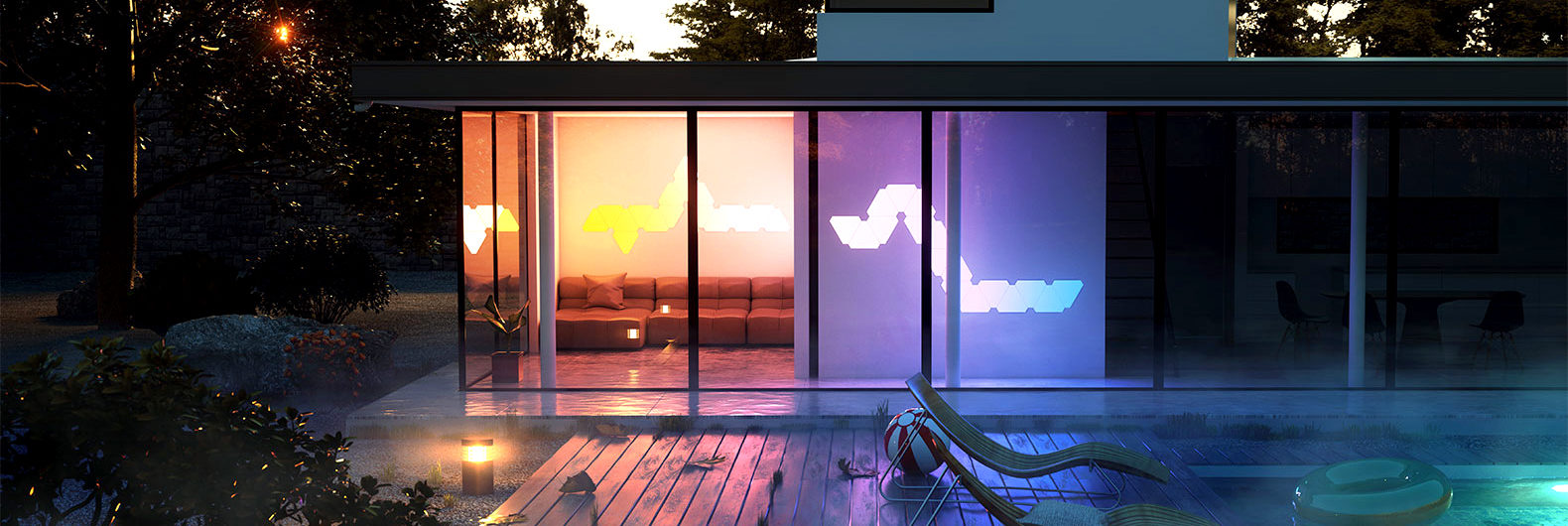 Do you already have led lighting inside the house part 1 come - Add A Splash Of Living Paint To Your Walls With Nanoleaf S Led Aurora Light Panels Inhabitat Green Design Innovation Architecture Green Building