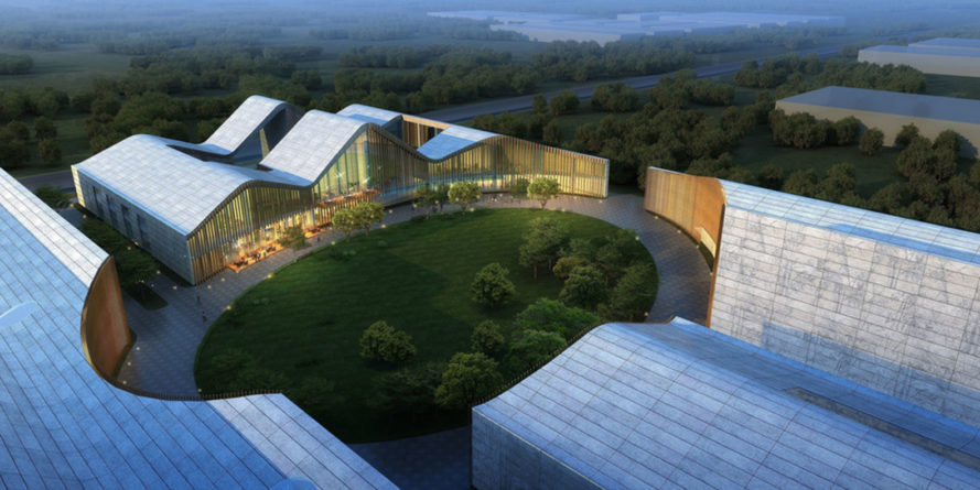 Sichuan Arts Factory and Innovation Center, Urbanlogic, China, AAP American Architecture Prize, traditional Chinese architecture , innovation center, green renovation, warehouse, courtyard, green architecture