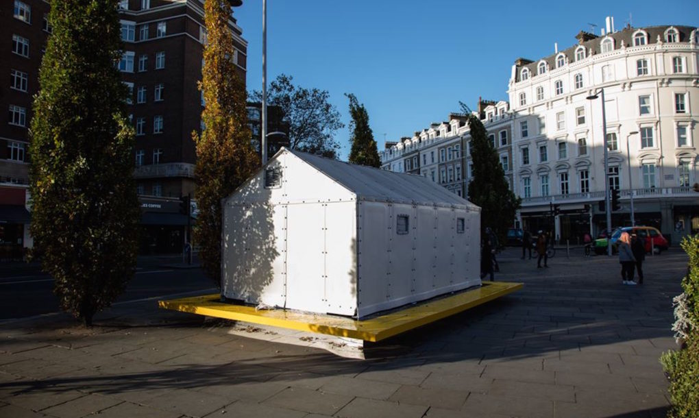 ikea better shelter refugee house pops up in west london inhabitat green design innovation. Black Bedroom Furniture Sets. Home Design Ideas