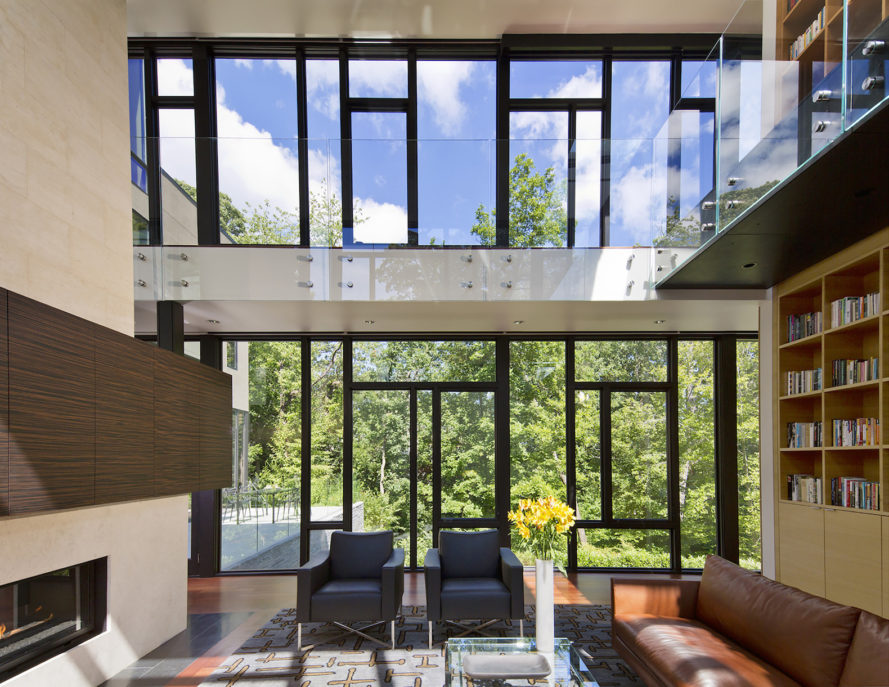 Brandywine House by Robert M. Gurney, Brandywine House in DC, net zero energy house in Washington DC, contemporary net zero energy house, contemporary eco-friendly residence in Washington DC