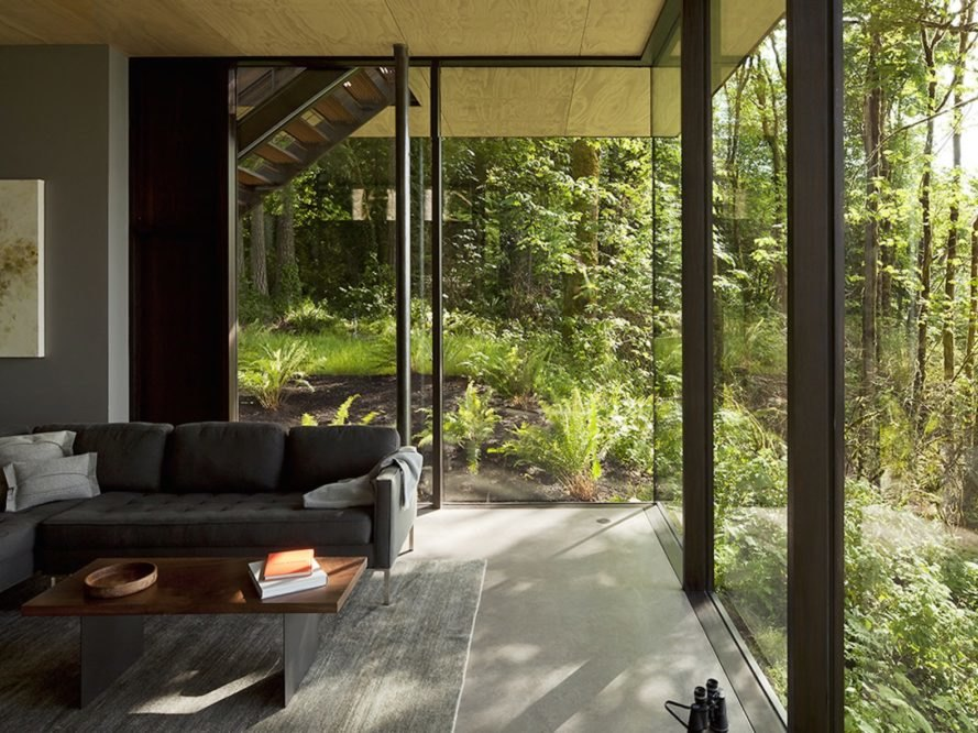 Case Inlet Retreat by MW works, low maintenance cabin, Case Inlet cabin, AIA Honor Award 2016, Ipe wood cabin, Olympic Windows cabin, Puget Sound cabin, environmentally sensitive cabin architecture,