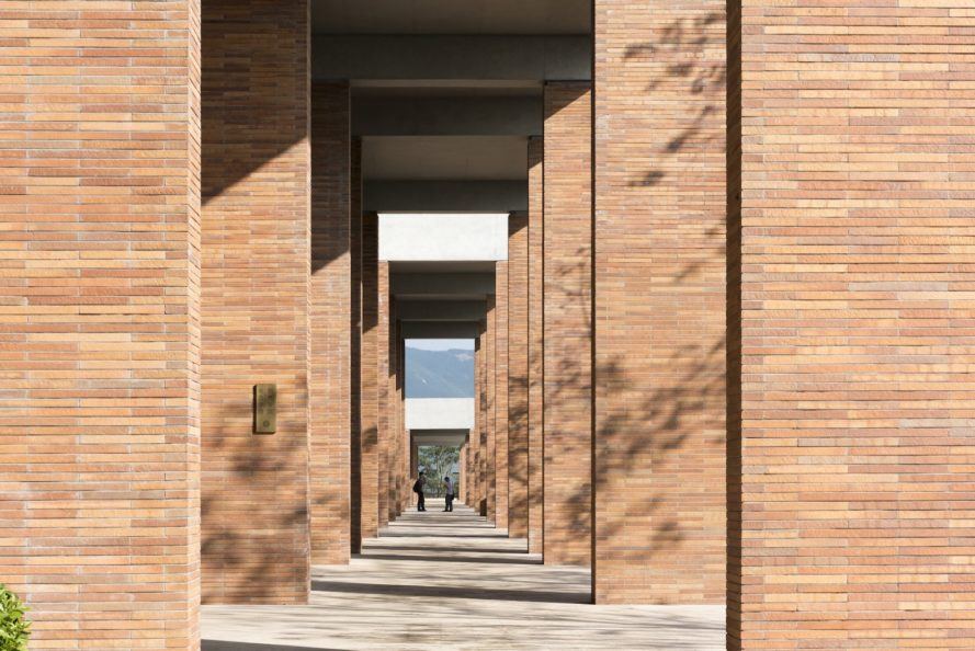 China Resources University by Foster + Partners, China Resources University, China Resources University in Shenzhen, Shenzhen brick architecture, Xiao Jing Wan brick architecture, coarse stone brick